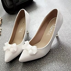 Women's Shoes Leatherette Stiletto Heel Heels / Pointed Toe Heels Wedding / Office & Career / Casual Black / Red / White