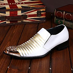 Men's Shoes Amir Pure Manual Flash Stage Show Wedding / Evening Party Comfort Cowhide Leather Loafers
