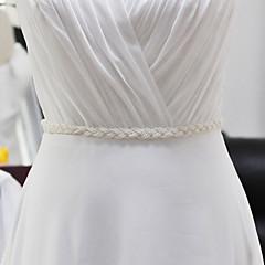"""סטן חתונה / מסיבה\אירוע ערב / לבוש ליום אבנט-חריזה / פנינים פרח ילדה של 98 ½אינץ'(250ס""""מ) חריזה / פנינים"""