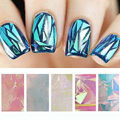 Outras Decorações-Abstracto- paraDedo- dePVC- com5pcs glass nail art foils-5cmX20cm each piece