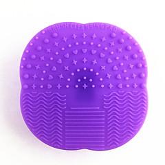 1pcsマルチユースシリコーンメイクアップ化粧ブラシ卵クレンザーパッド洗浄メイクブラシスクラバー