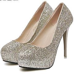 Women's Shoes Leatherette Stiletto Heel Heels Heels Wedding / Party & Evening Pink / Purple / White / Gold