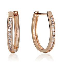 Earring Hoop Earrings Jewelry Women Birthstones Wedding / Party / Daily / Casual Silver / Sterling Silver 1 pair Rose Gold