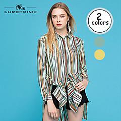 Europrimo® Dames Overhemdkraag Lange mouw Theelengte Jurken-EUECX621