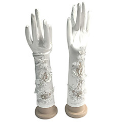 Elbow Length Fingertips Glove Cotton Bridal Gloves / Party/ Evening Gloves Spring / Summer / Fall / Winter Sequins