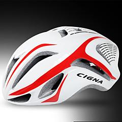Capacete(Amarelo / Branco / Vermelho / Azul,PC / EPS) -Estrada / Esportes-Mulheres / Homens 17 Aberturas Ciclismo de Estrada