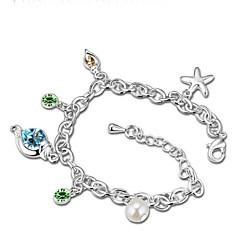 Thousands of colors  Women's Charm Bracelet Alloy Crystal-3-177