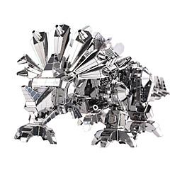 Quebra-cabeças Quebra-Cabeças 3D / Quebra-Cabeças de Metal Blocos de construção DIY Brinquedos Dinossauro Metal PrateadaModelo e Blocos