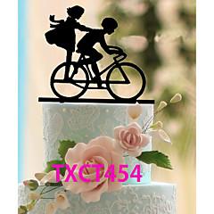 Kakepynt Ikke-personalisert Klassisk Par Akryl Jubileum Svart Klassisk Tema 1 OPP