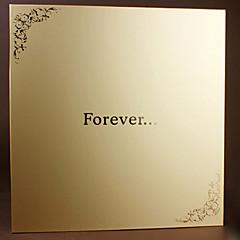 DIY 33 * 32,5 cm 18inch käsintehtyjä leikekirjakuvien albumissa 20kpl kultaus itsekiinnittyvät - ikuisesti perhe / vauvan / ystäville /