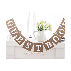 Guest Book Bunting Wedding Party Banner Garland Photo Props Hanging Decor