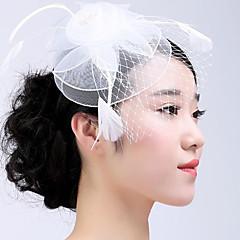 Femme Plume / Tulle Casque-Mariage / Occasion spéciale / Décontracté / Extérieur Coiffure 1 Pièce