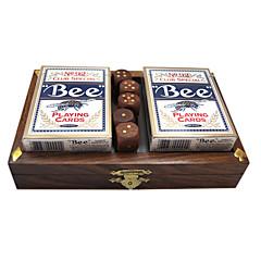 Royal St produto 2 pagar a caixa de poker wb576 terno jogo dice de pau-rosa de poker dice box set (incluindo o poker)