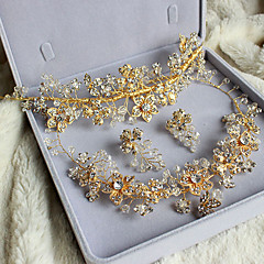 Jewelry Set Women's Anniversary / Wedding / Engagement / Birthday / Gift / Party / Special Occasion Jewelry Sets Alloy / RhinestoneNon