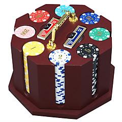 240 peças de fichas de poker fichas de madeira terno dedicados jogo de poker