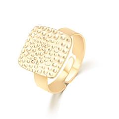 Prstýnky Unisex Bez kamínku Slitina Slitina Nastavitelný Zlatá Barva zdobení je zobrazena na obrázku.