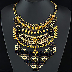 Women's Statement Necklaces Gemstone Vintage Statement Jewelry Fashion Silver Golden Champagne Jewelry Party Daily Casual 1pc