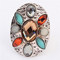 Wedding Ring Bands Finger Ring 18K Rose Gold Plated With Colorful Austrian Rhinestone