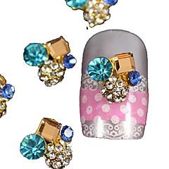 10st vierkante kristal rond 3d strass diy accessoires nail art decoratie