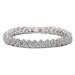 Damen Armbänder Kette Silber Strass