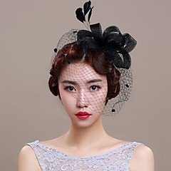 Women's Basketwork / Organza Headpiece-Wedding / Special Occasion Fascinators 1 Piece