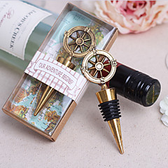 Ring Chrome Bottle Favor-1Piece/Set Bottle Stoppers Classic Theme Non-personalised Gold