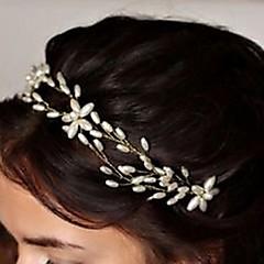 Bride's Flower Shape Rhinestone Hair Headband Pearl Wedding Hair Clip Accessories 1 PC