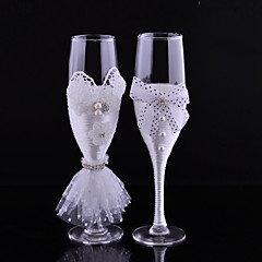 Blyfritt Glass Riste Fløyter-2Pieces Piece / Set