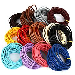 beadia 5 mts 3mm okrągły skórzany sznur& drut& strunowy& Przewód biżuteria (13 kolorów)