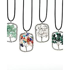 Damskie Naszyjniki z wisiorkami Paw Stal nierdzewna Kamień szlachetny Modny biżuteria kostiumowa Biżuteria Na Codzienny Casual