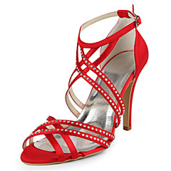 HedvábíDámské-Černá Modrá Žlutá Růžová Fialová Červená Bílá Stříbrná Zlatá Béžová Mandlová-Svatba Šaty Party-Vysoký