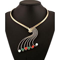 Halsband Choker-Halsband Smycken Party / Dagligen / Casual Mode Legering / Ädelsten Gyllene / Blandad färg 1st Present