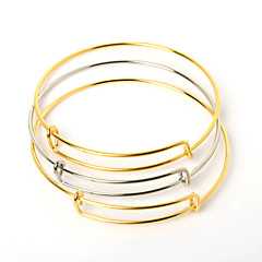 Bransoletki Bransoletki cuff Stal nierdzewna Korygujący Codzienny / Casual Biżuteria Prezent Złoty / Srebrne,10pcs