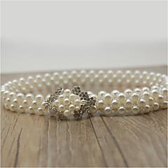 Perle / Elastique Mariage / Fête/Soirée Ceinture-Strass / Imitation de perle Femme 66cm Strass / Imitation de perle