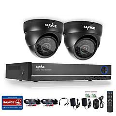 sannce® 4CH 720p DVR overvågningssystem med 4HD 1280 * 720tvl udendørs sikkerhed kameraer