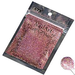 1ks nail art krásná barva růžová laserová třpytky prášek nehtů DIY dekorace l02