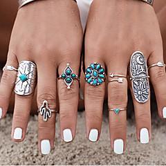 Gyűrűk Régies (Vintage) Napi / Hétköznapi Ékszerek Női Midi gyűrűk 1set,7 Ezüst / Kék