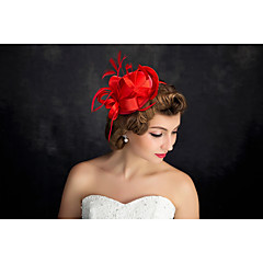Women's Feather / Flax Headpiece-Special Occasion Fascinators 1 Piece Clear Irregular 15