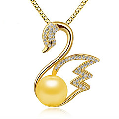 Women's Pendant Necklaces Pendants Pearl Sterling Silver Zircon Cubic Zirconia Fashion Adorable Personalized Silver Golden Rose Gold
