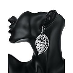 Feminino Sexy Moda Personalizado bijuterias Prata de Lei Formato de Folha Jóias Para Casamento Festa Diário Casual
