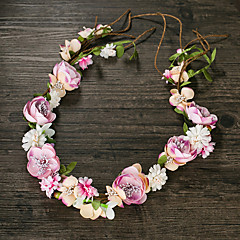 Women's Fabric Headpiece-Wedding Wreaths 1 Piece Pink Flower 50cm