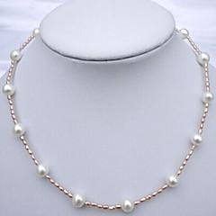 Dámské Pramenů Náhrdelníky Perly Módní Rozkošný Perlová růžová Šperky Svatební Párty Denní Ležérní 1ks