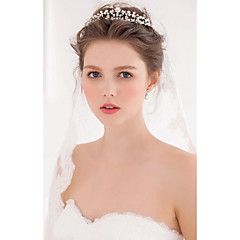Women's Alloy / Imitation Pearl Headpiece-Wedding / Special Occasion / Casual Tiaras / Hair Tool 1 Piece Silver