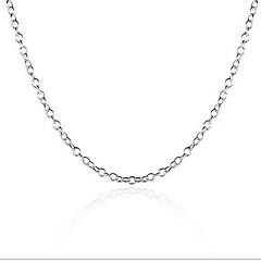 Κολιέ Κολιέ με Αλυσίδα Κοσμήματα Γάμου / Πάρτι / Καθημερινά / Causal / Αθλητικά Μοντέρνα / Προσωπικότητα Ασήμι Στερλίνας Ασημί 1pc Δώρο