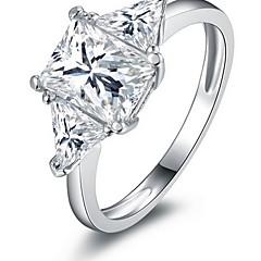 Feminino Maxi anel Moda Zircão Liga Jóias Para Casamento Festa