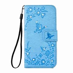 Für iPhone 6 Hülle / iPhone 6 Plus Hülle Geldbeutel / Kreditkartenfächer / Strass / mit Halterung Hülle Handyhülle für das ganze Handy