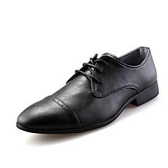 גברים-שטוחות-דמוי עורשחור חום בורגונדי-חתונה משרד ועבודה מסיבה וערב-עקב שטוח