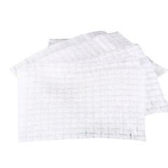 Fenlin ® 500 Piece Non-Woven Fabric Plaid Pressed Pearl White Cotton Pads