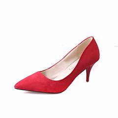 נשים-עקבים-סוויד-עקבים-שחור / אדום / אפור / קפה-חתונה / שטח / משרד ועבודה / שמלה / מסיבה וערב-עקב סטילטו