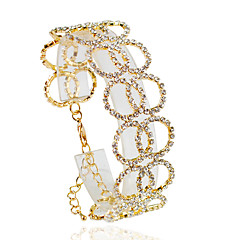 Dames Armbanden met ketting en sluiting Modieus Legering Cirkelvorm Zilver Gouden Sieraden Voor Bruiloft Feest Dagelijks Causaal 1 stuks